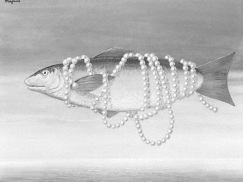 René Magritte, Homage to Alphonse Allais, 1963, gouache on paper