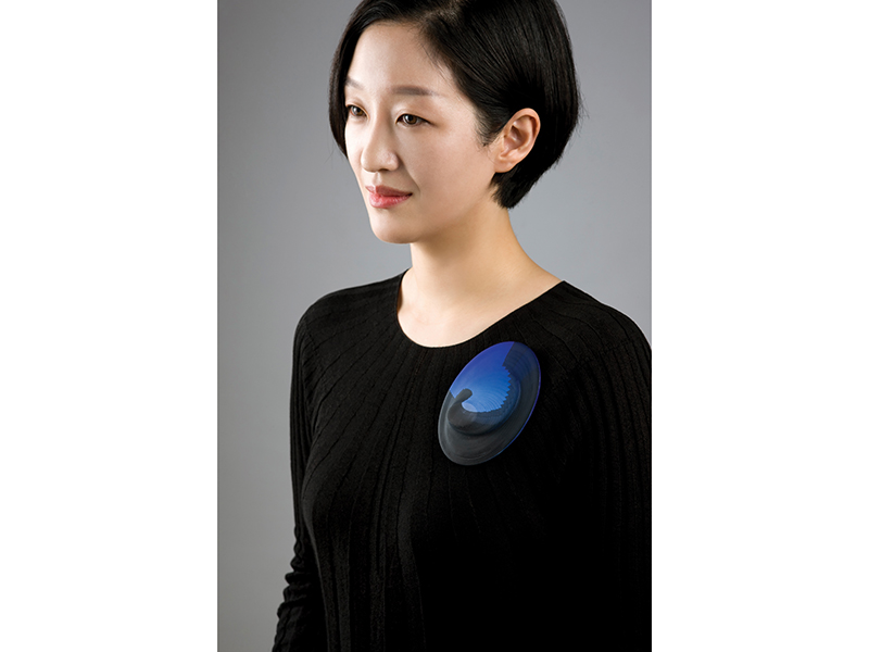 Sooyeon Kim, Layered Blue, Seoul, 2018