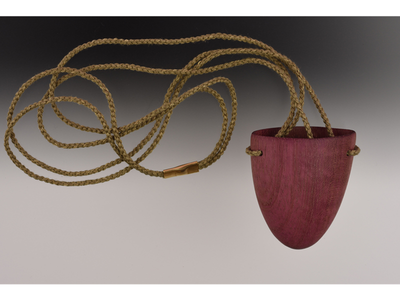 Rachel Bell, Purple Heart Tongue Pendant