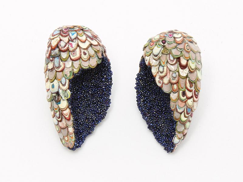 Carina Shoshtary, Wing-Shaped Karma Chroma Earrings, 2019
