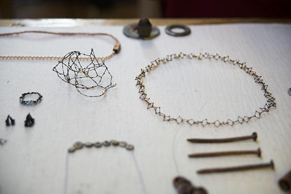 Nolia Shakti, Artist's Studio, worktable, photo: Julia Blaukopf
