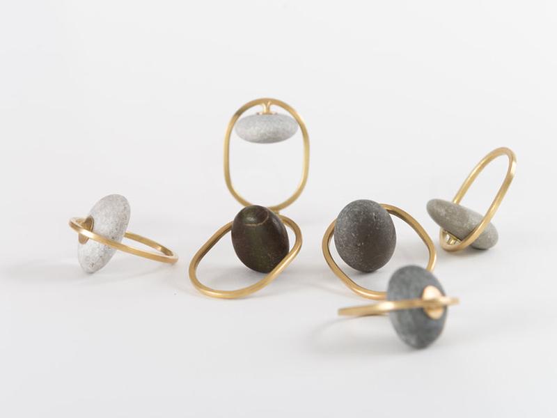 Millie Behrens, Pebble Rings, 2019
