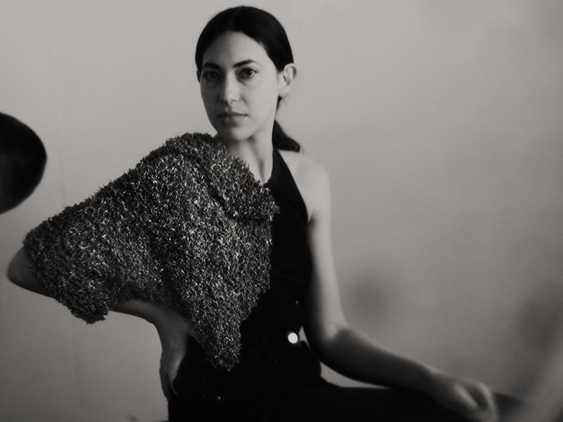 Betsy Lewis, Figure 1 Blanket, 2020, blanket, sterling silver, 483 x 431 x 25 mm, photo: Antonio Ysursa
