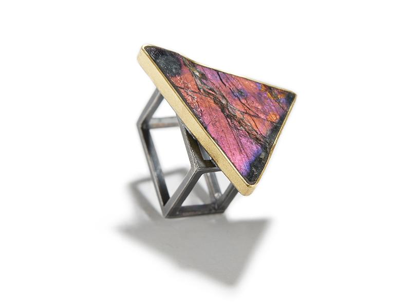 Harold O'Connor, Triangular Spectrolite Ring, 2020