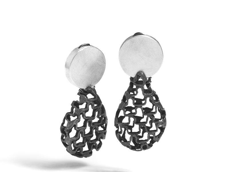 Sarah Holden, Ruffle Pear Drop Earrings