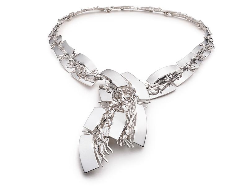 Roland Dubuc, Hinged Folded Necklace, 2010s