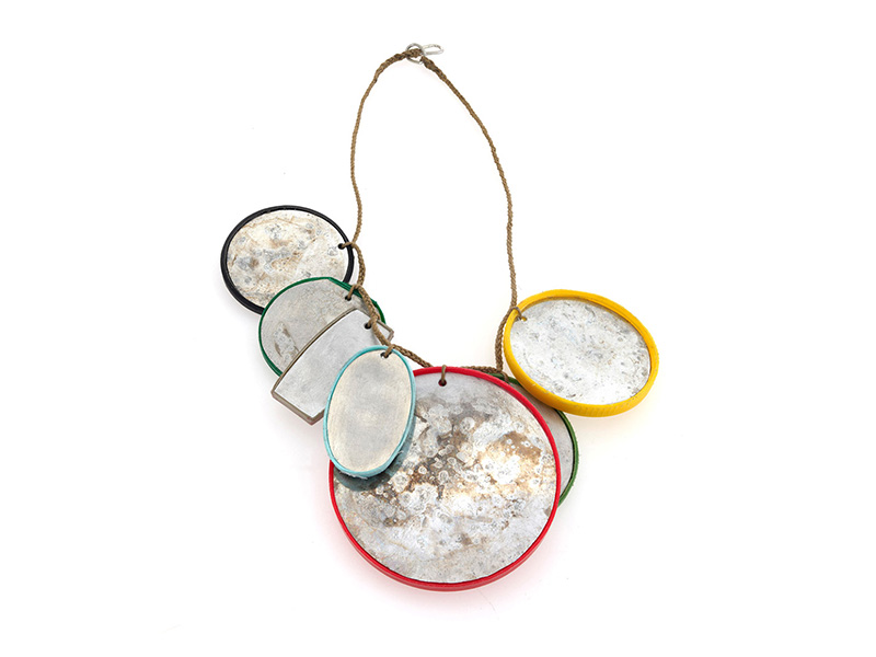Silke Spitzer, Many Colors Lid Necklace, 2019