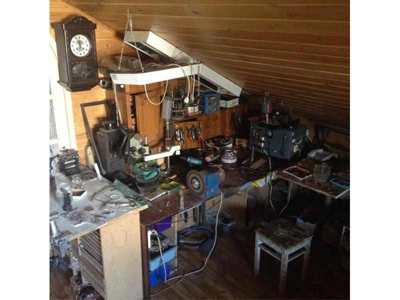Sergey Zhernov's studio, photo: artist