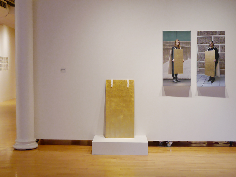 Exhibition view, After Wearing: A History of Gestures, Actions, and Jewelry, 2015, foreground work by Suska Mackert and Jhana Millers, Pratt Manhattan Gallery, New York, photo: Mònica Gaspar