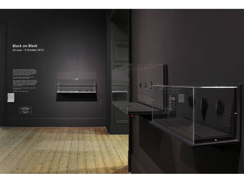 Exhibition view, Black on Black, 2015-16, Manchester Art Gallery, Manchester,  photo: courtesy of Manchester Art Gallery 2015