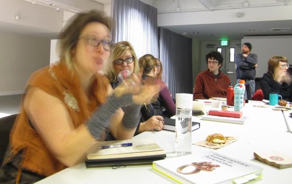 Workshop participants, 2013, Art Jewelry Forum Speakers Tour