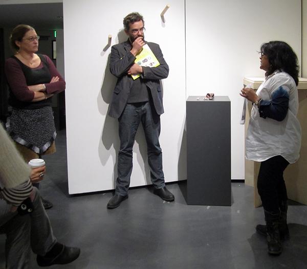 Benjamin Lignel and Namita Wiggers conducting critique, 2013