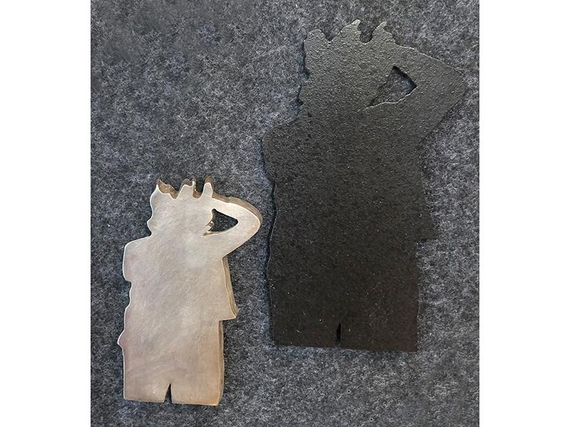 Winfried Krüger, Man with Shadow, 1987