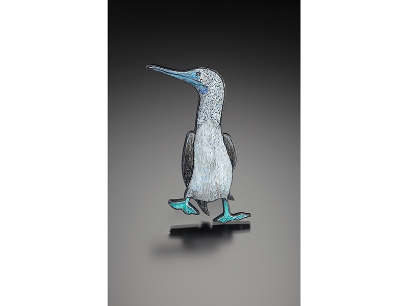 Cynthia Toops, Blue-Footed Booby Brooch