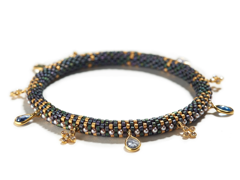 Claire Kahn, Holiday Bracelet with Sapphire and Diamond
