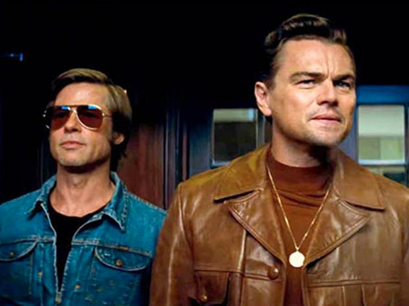 Brad Pitt with Leonardo DiCaprio