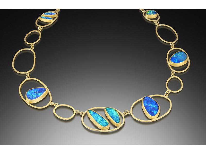 Petra Class, Opal Open Links Necklace
