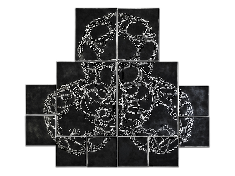 Sarah Holden, Wire Lace Soot Drawing #1 in Twelve Parts